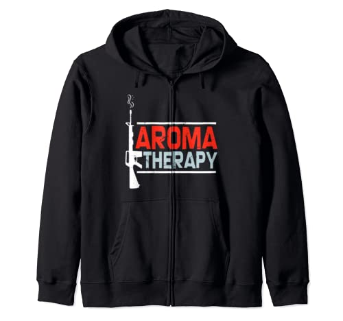Aroma Therapy Funny Ar15 Gift For Gun Owner Zip Hoodie