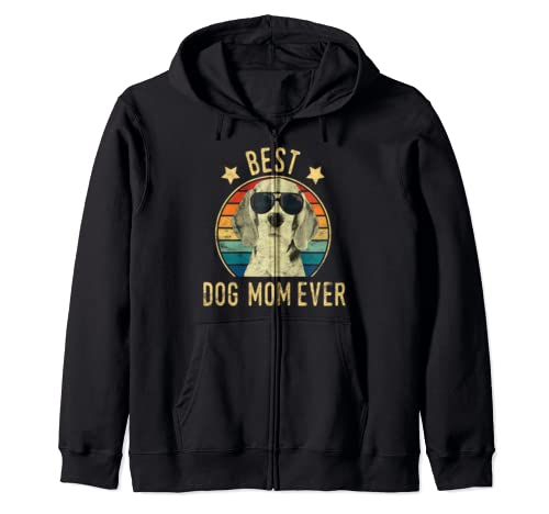 Best Dog Mom Ever Beagles Mother's Day Gift Zip Hoodie
