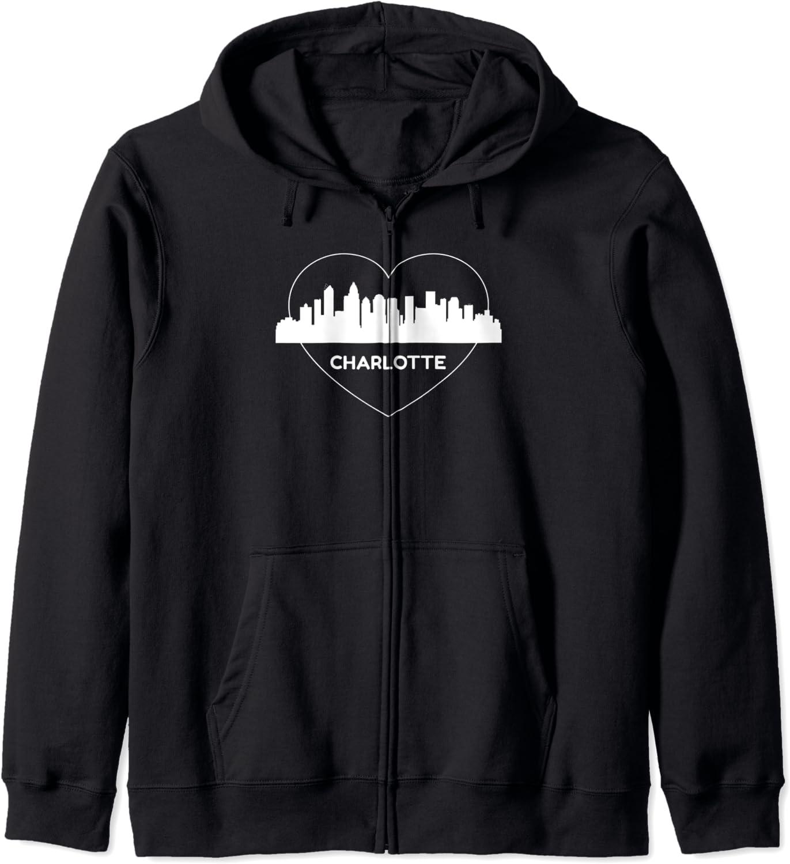 Charlotte 買収 Silhouette Skyline Art Queen 2020春夏新作 City Gift Souvenir Ho Zip