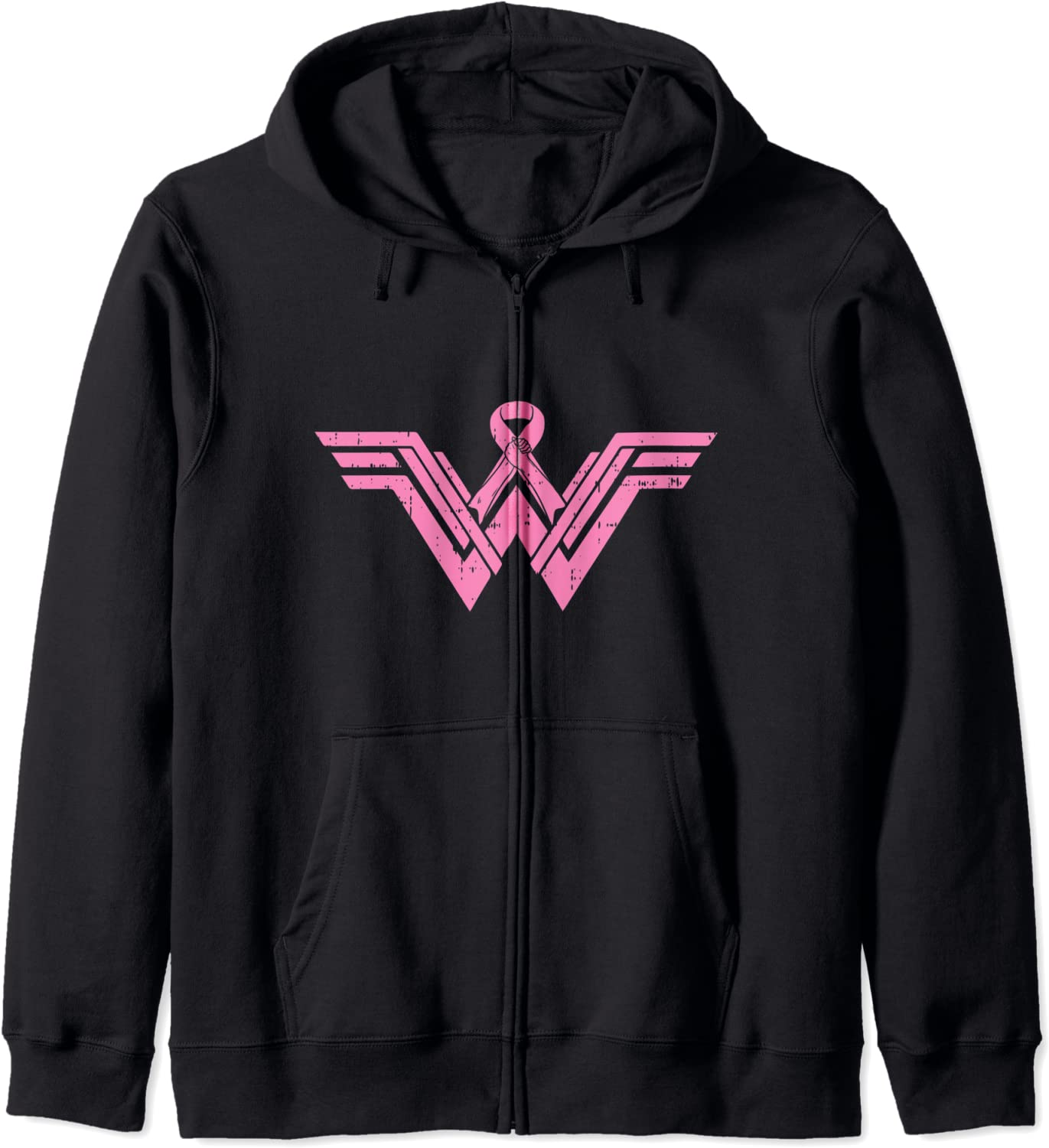 At the price of surprise Superhero Pink Ribbon Breast Cancer Awareness Wife Gift Zip shop Mom
