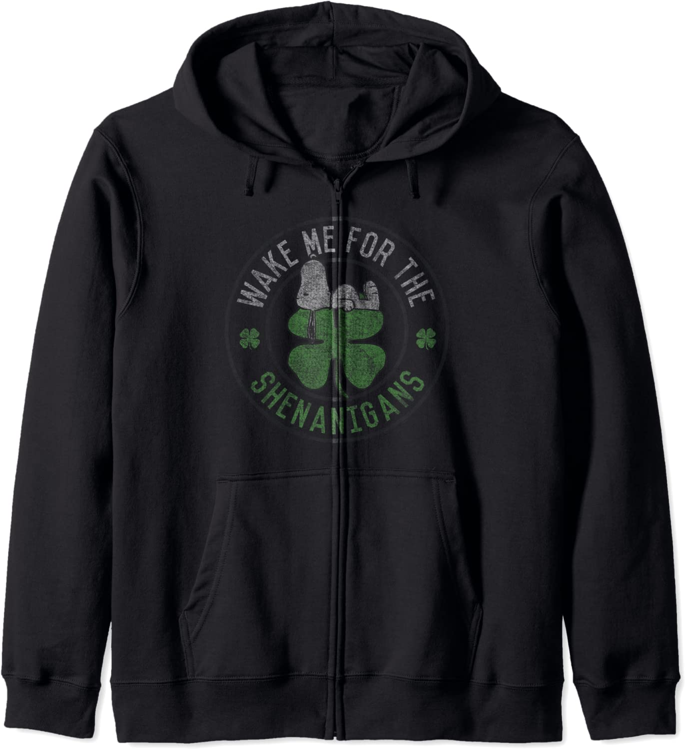 Peanuts St Patrick's Day Wake Me lowest price NEW before selling Zip Shenanigans For Up Hoodie