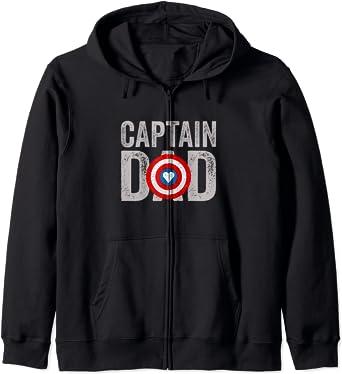 Super Captain Dad Superhero Sweat à Capuche