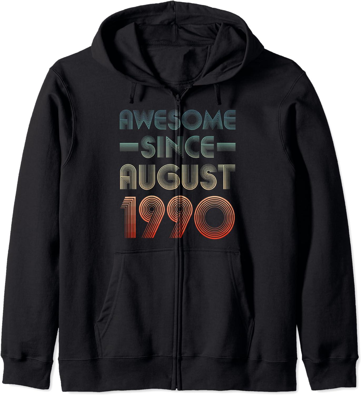 Awesome San Diego Mall Since August 1990 31st Hoodie Zip Finally popular brand Birthday Retro