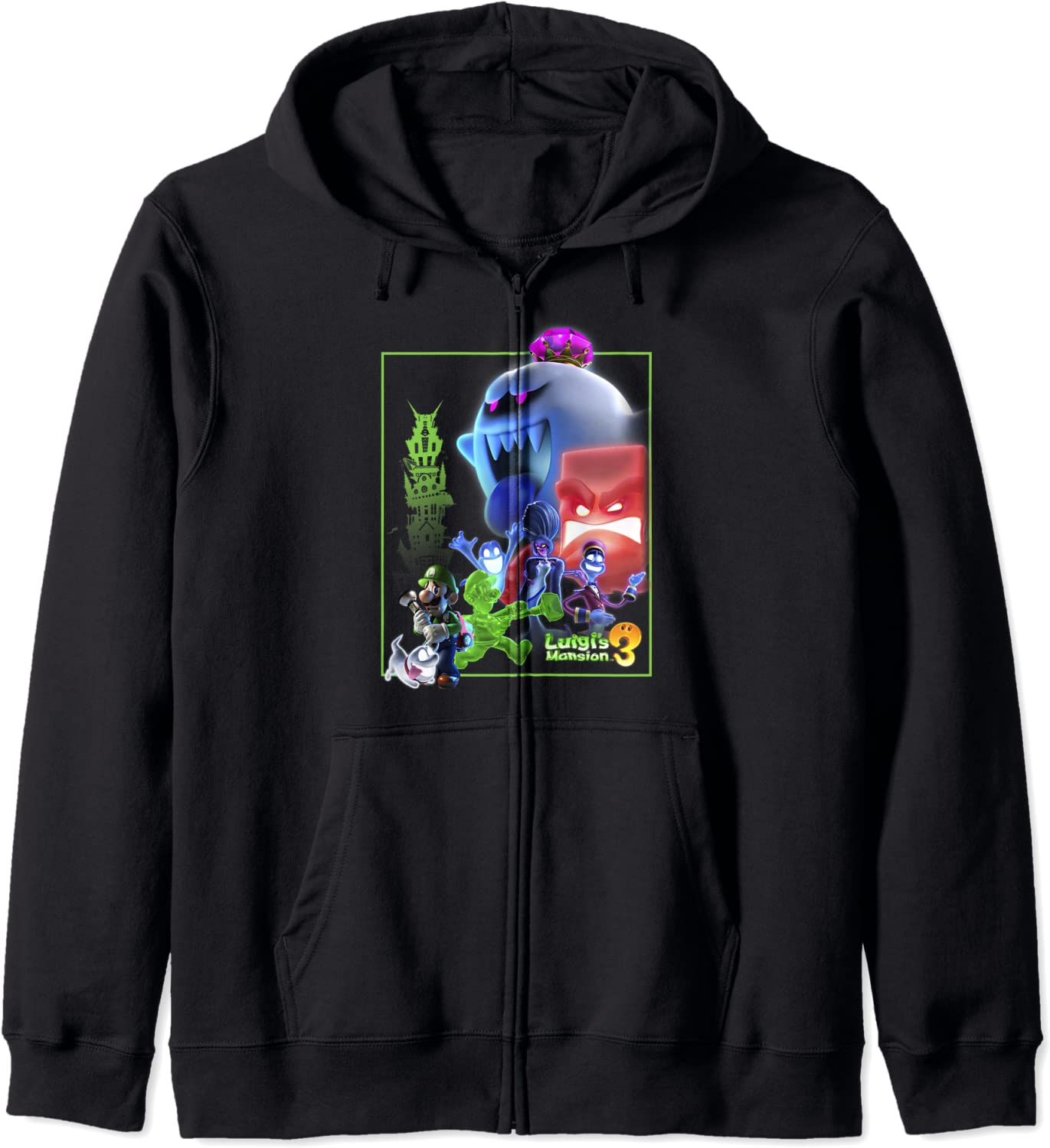 Luigi's Mansion 3 Collage Zip Poster Hoodie Inventory cleanup selling sale Reservation