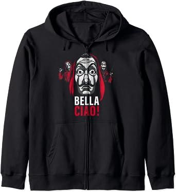 Netflix La Casa De Papel Masked Bella Ciao! Sweat à Capuche