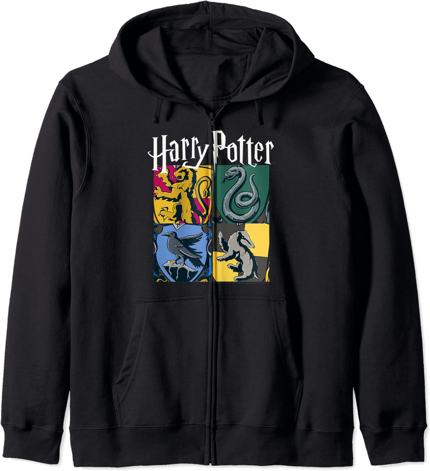 Harry Potter Hogwarts Wholesale House Box Hoodie Opening large release sale Up Zip
