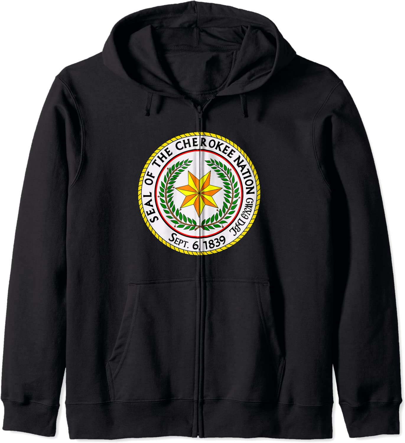 Seal of the Cherokee New popularity Nation Pride Zip Native American H Now free shipping
