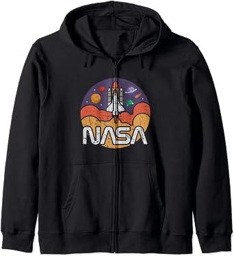 Astronomy NASA Retro Vintage Space Shuttle Sweat à Capuche