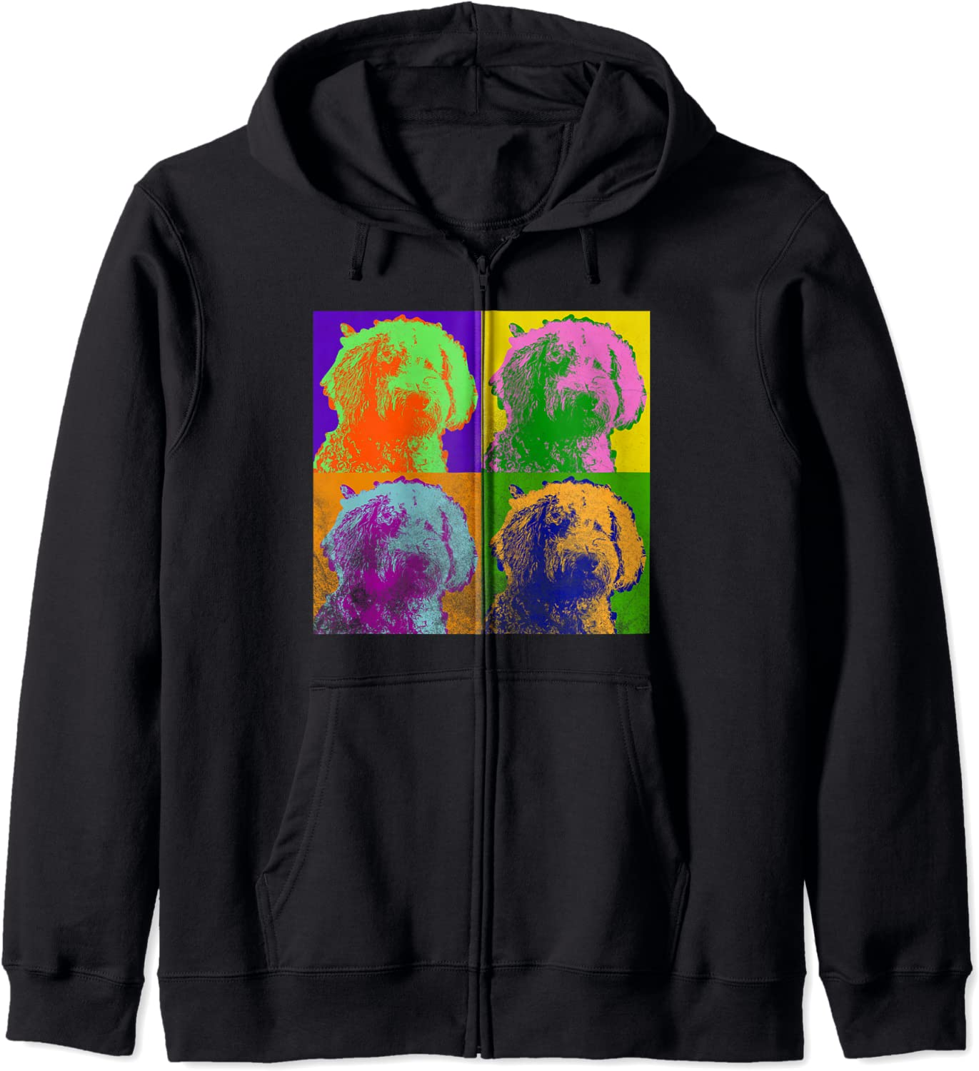 Goldendoodle Pop Art Doodle Love Dog Mom H Poodle Zip Spring new work one after another Retro Inventory cleanup selling sale Gift