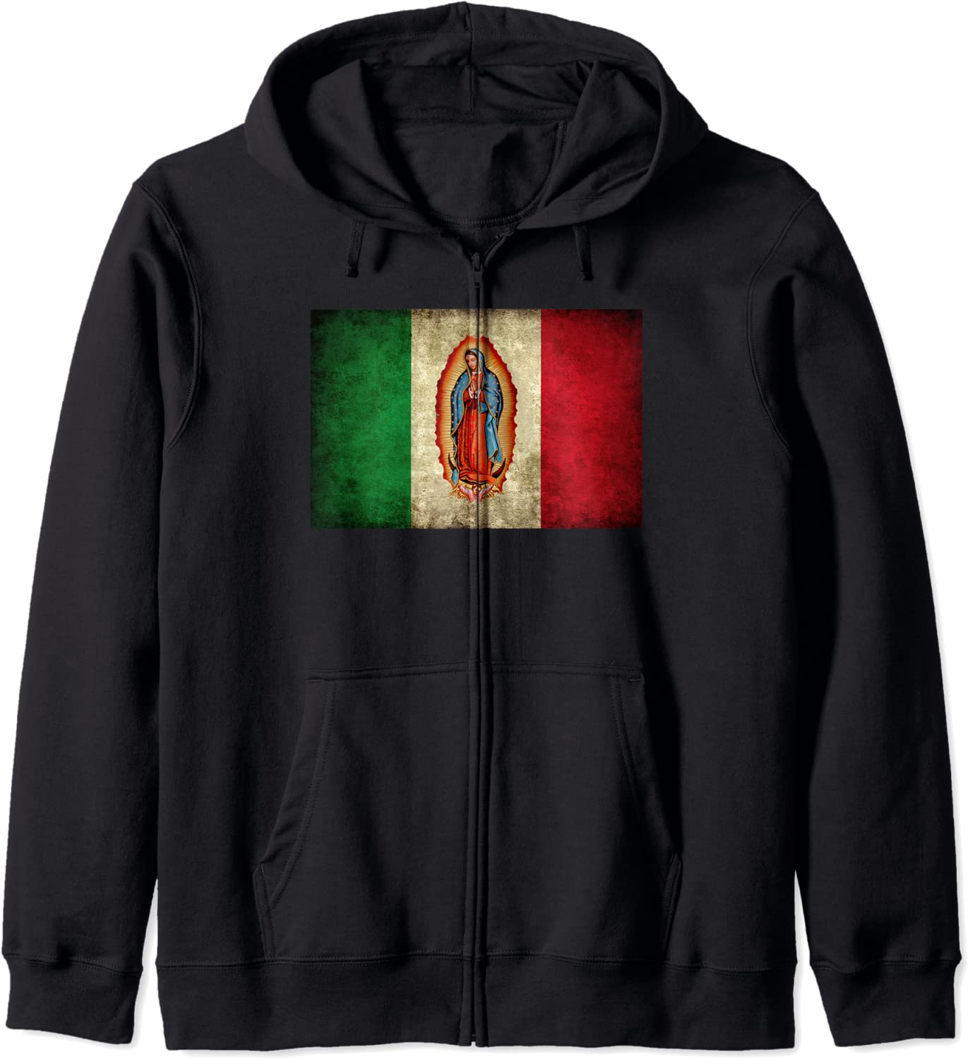 Milwaukee Mall Our Nashville-Davidson Mall Lady Virgen De Guadalupe Zip Flag Hoodie Mexican