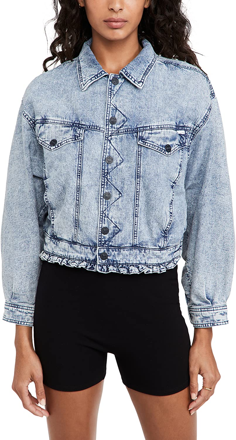 MOTHER Women's The Fly Away Ruffle Jacket
