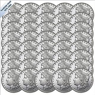 (1878-1904) Morgan Silver Dollar (BU) Forty Coins Brilliant Uncirculated