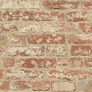 RoomMates Red Stuccoed Brick Peel and Stick Wallpaper