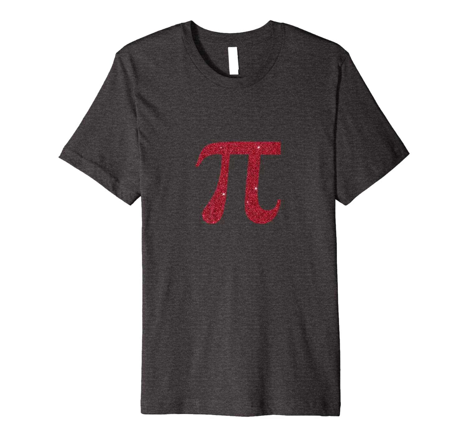 Pi 3.141 Red Glitter Effect Shirt-Awarplus