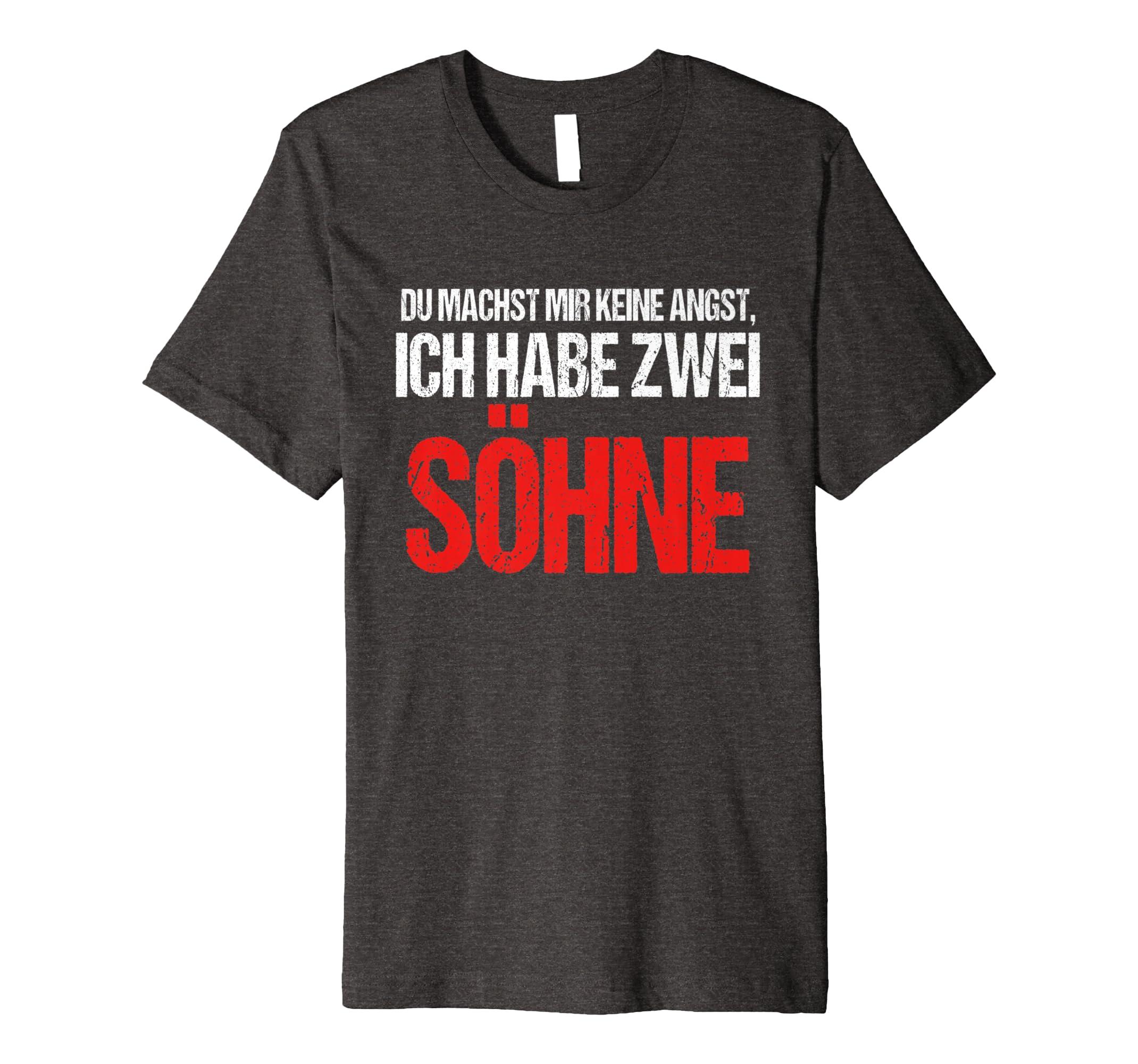 2 Söhne Familien Shirt Lustiges Weihnachtsgeschenk Advent: Amazon.de ...