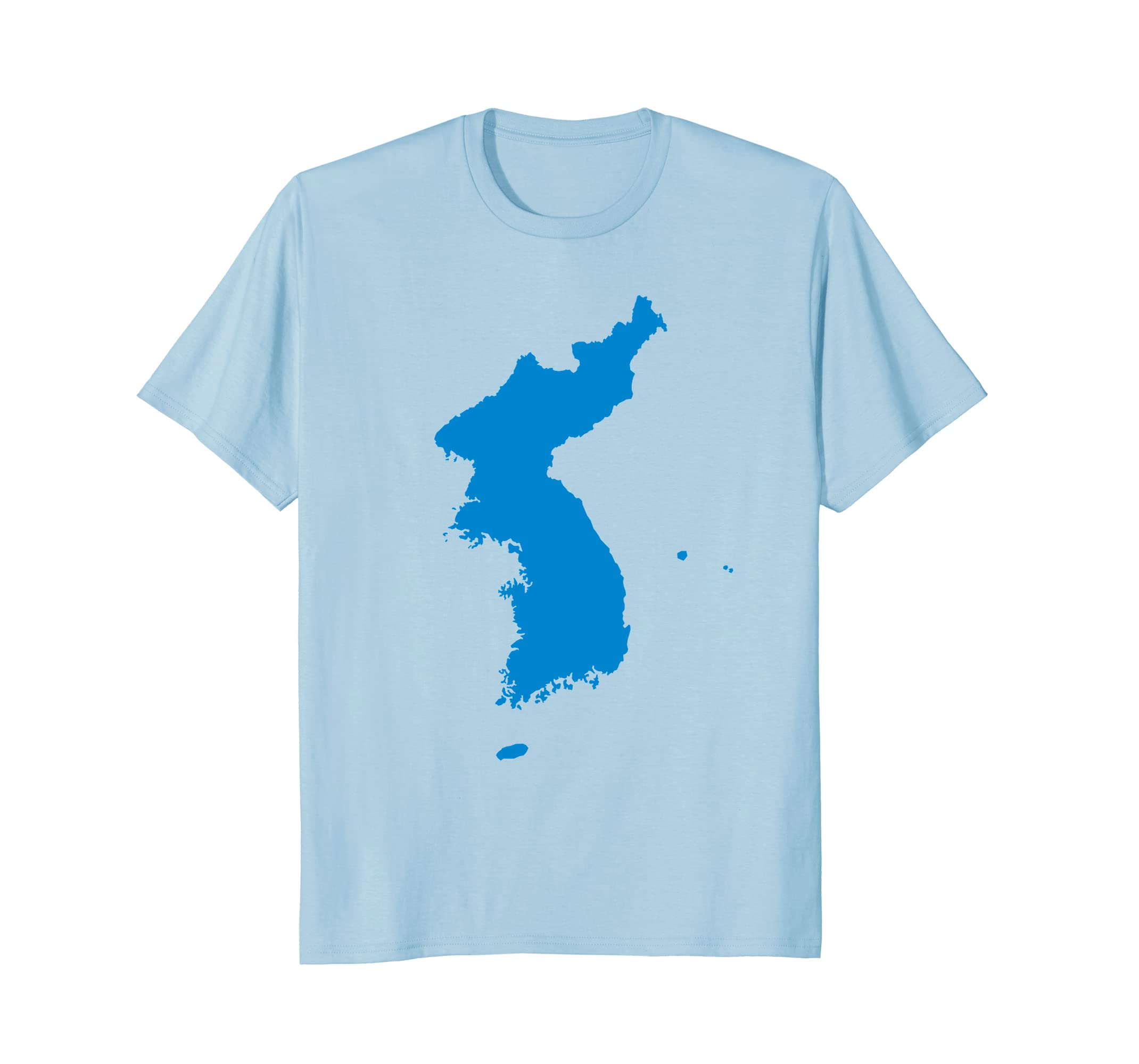 Korean Peninsula Map T-Shirt-Awarplus