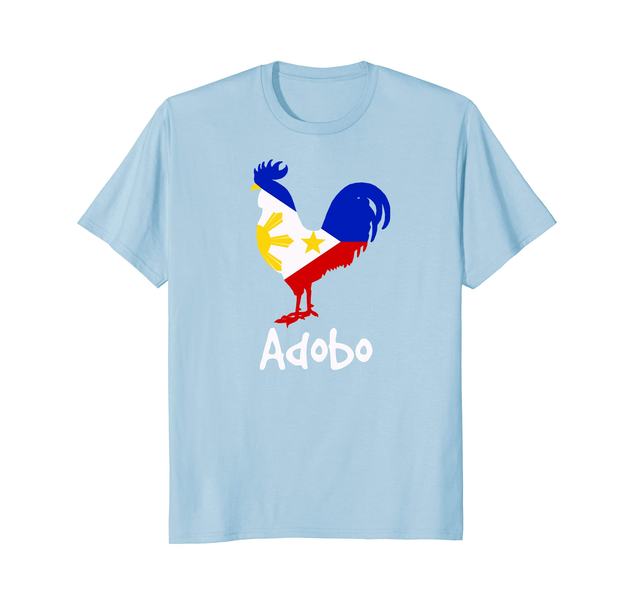 82cd2af19 Funny Filipino Chicken Adobo Pinoy Flag Rooster T-Shirt-AZP - anzpets