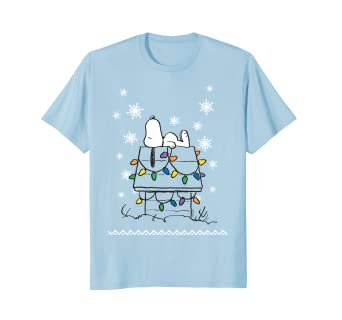 19a2c532 Image Unavailable. Image not available for. Color: Peanuts Snoopy Dog House  Lights T-shirt