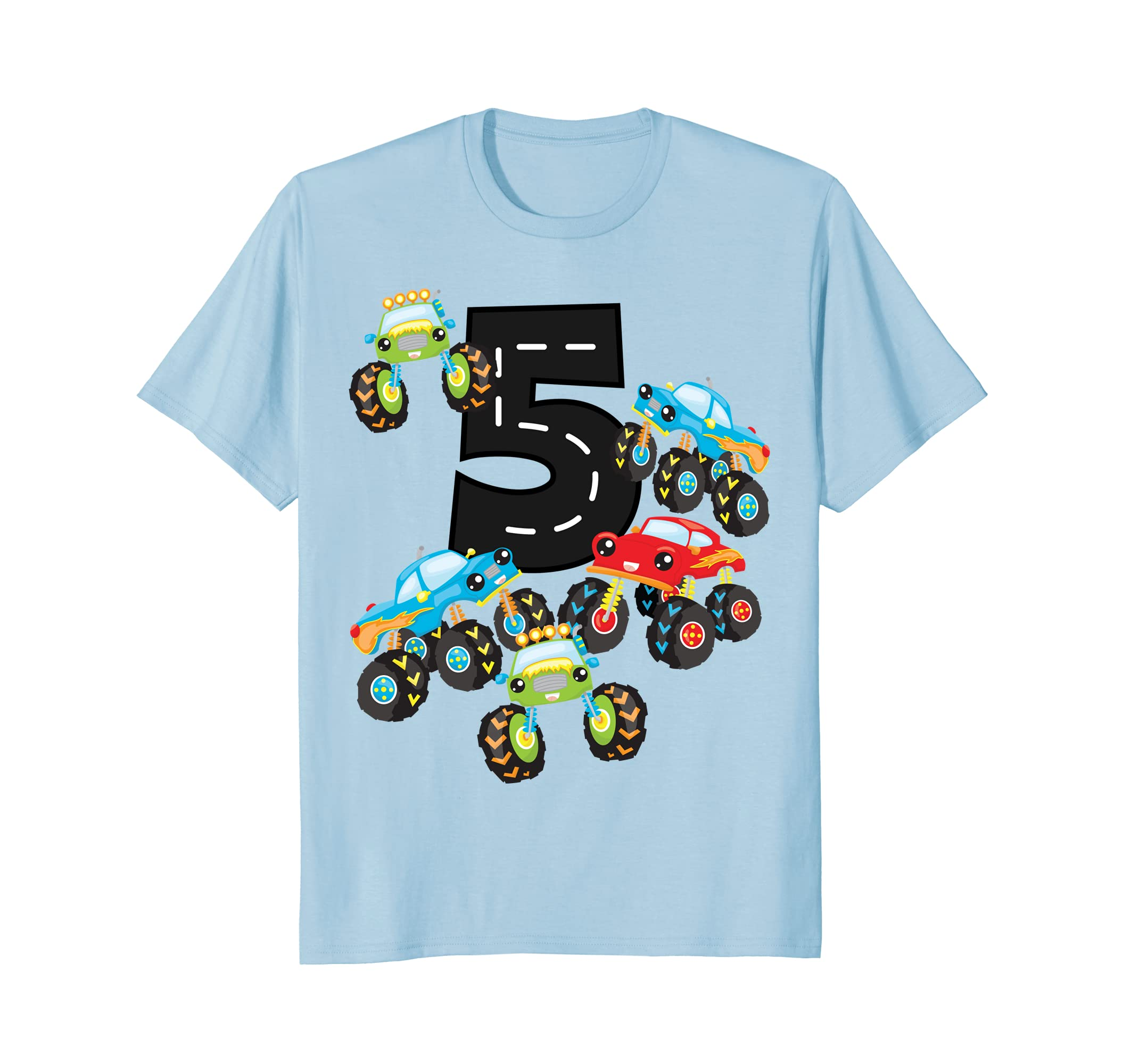 Amazon Birthday Shirt For Boys 5 Five Monster Trucks Boy Clothing