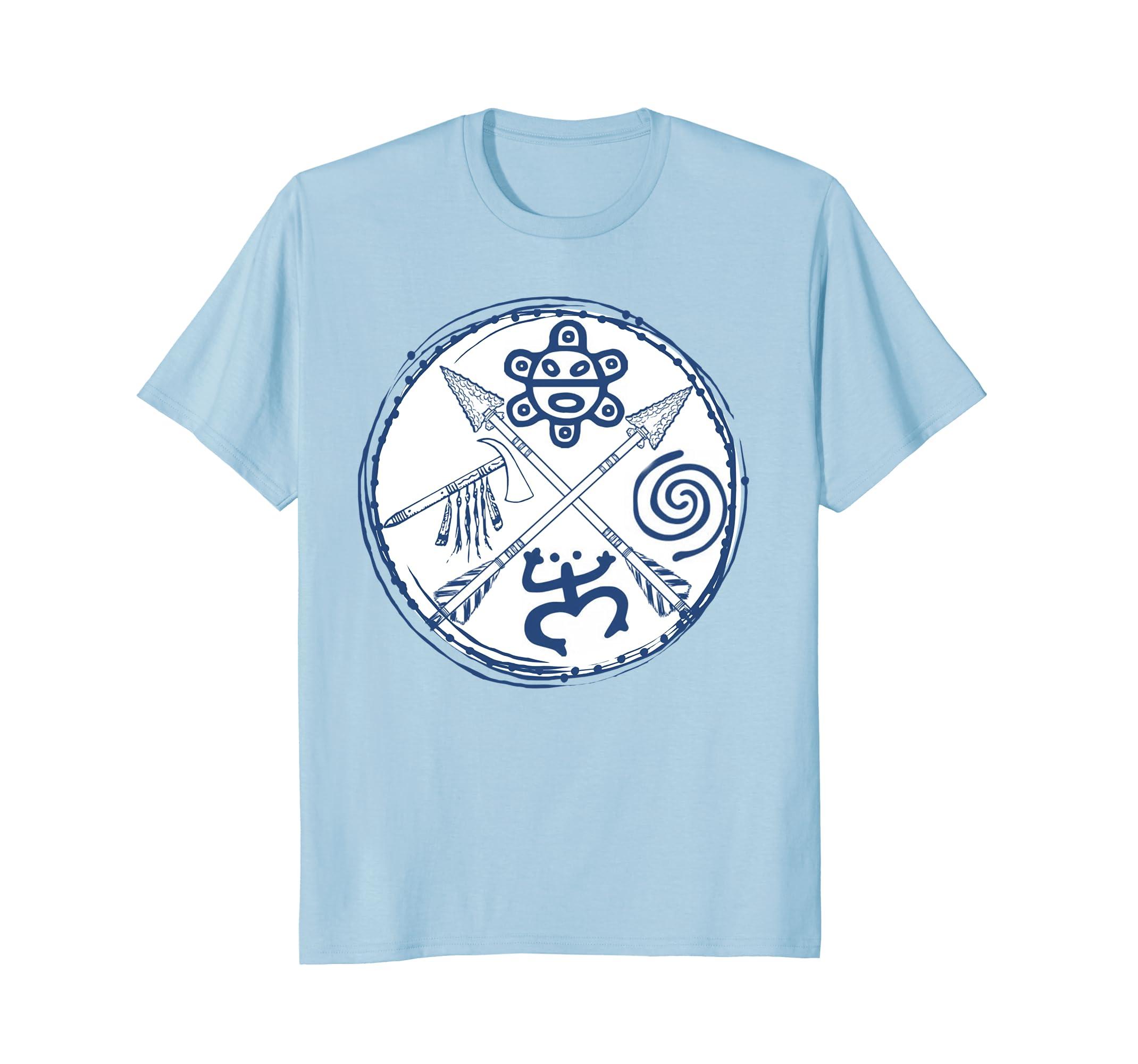 Amazon Puerto Rico Taino Symbols Short Sleeve T Shirt Clothing