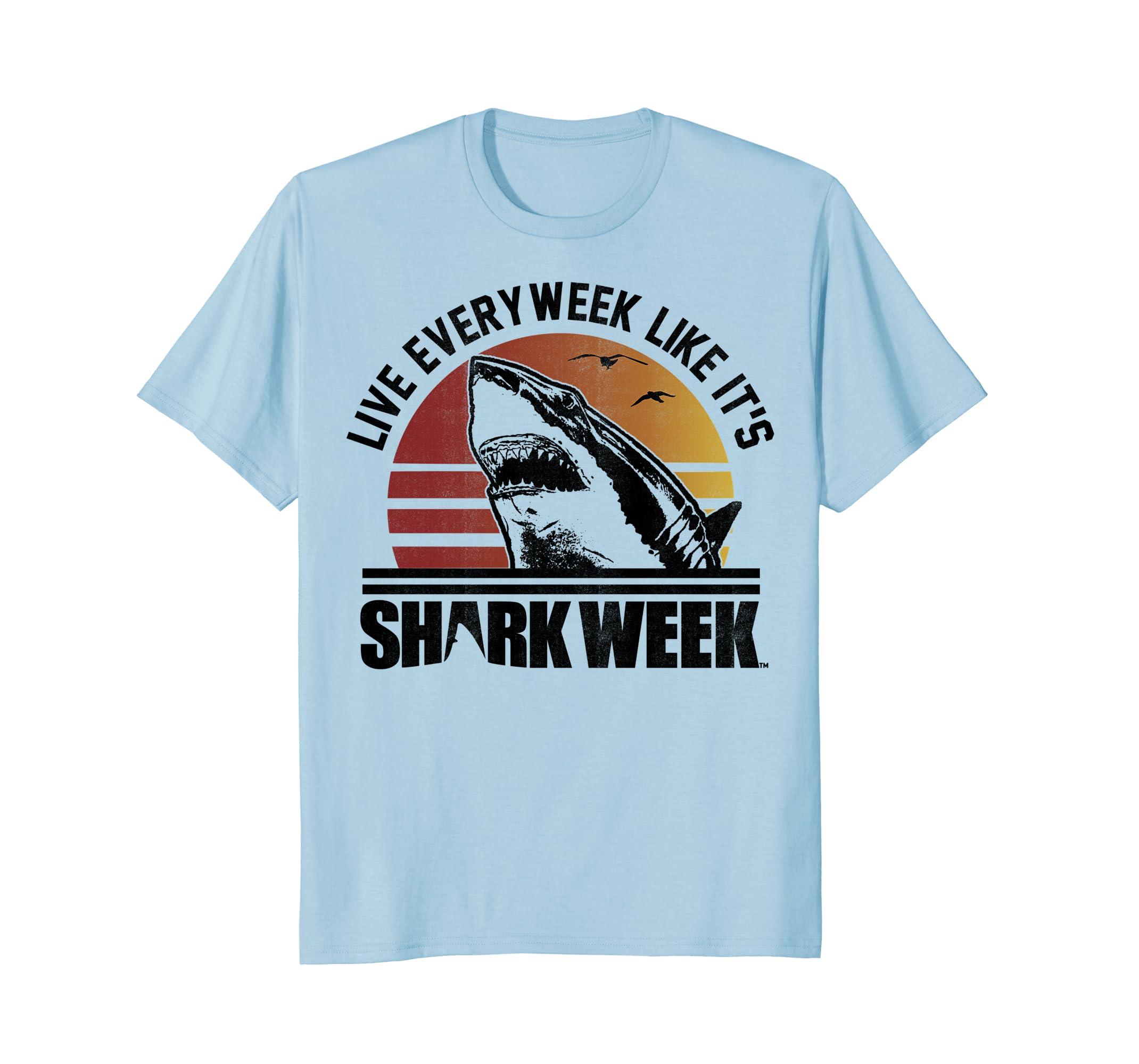 Shark Week Live Every Week Like It's Vintage Graphic T-Shirt-mt