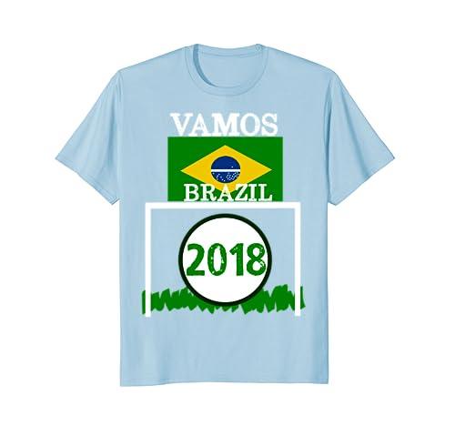 Amazon.com: VAMOS BRAZIL 2018 CAMISETA FLAG FUTBOL - MEN WOMEN T SHIRT: Clothing