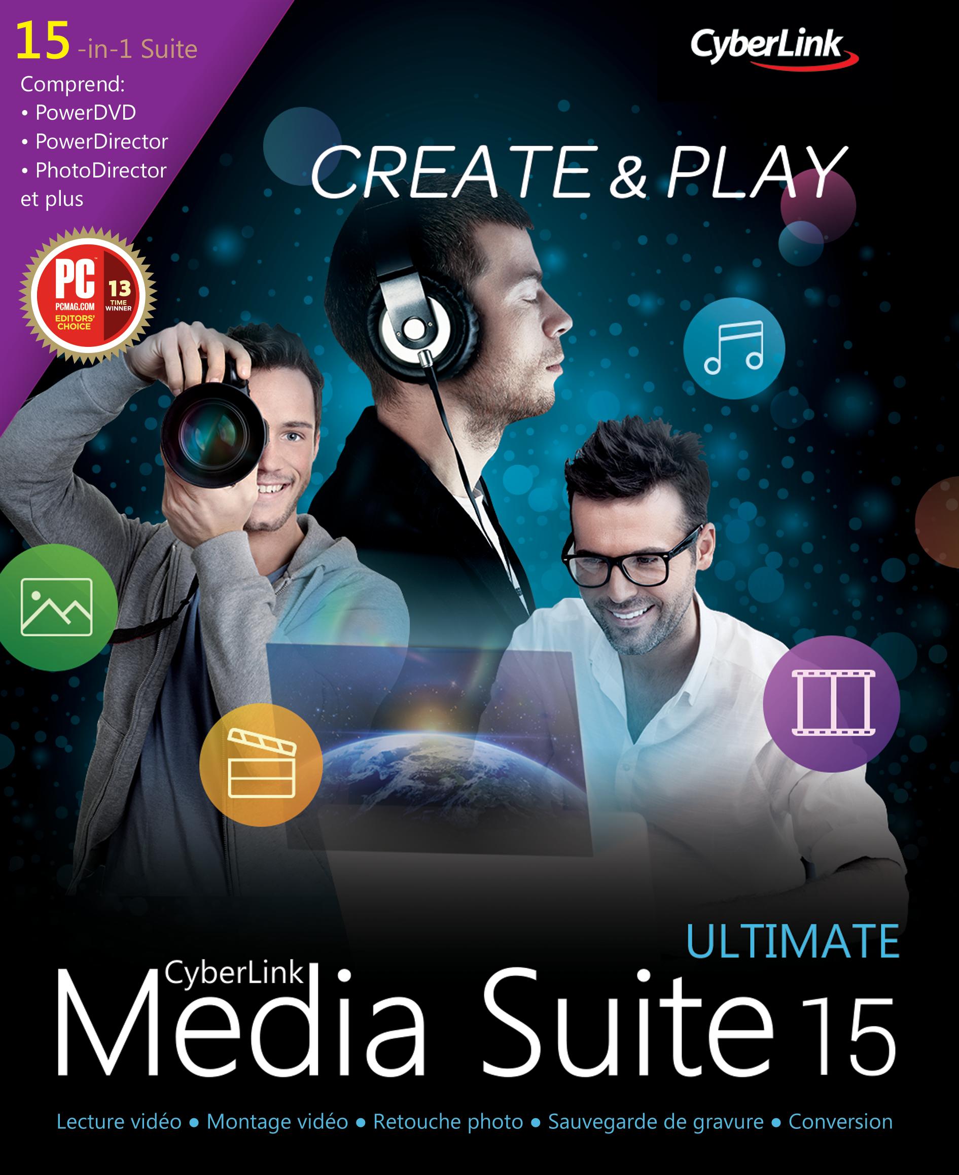 CyberLink Media Suite 15 Ultimate [Téléchargement]