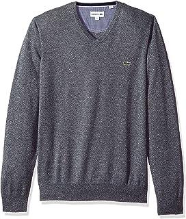 Men's V Neck Cotton Jersey Sweater