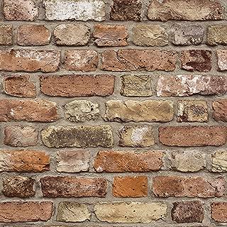 FC2502 - Facade Brown Brick Wall Galerie Wallpaper