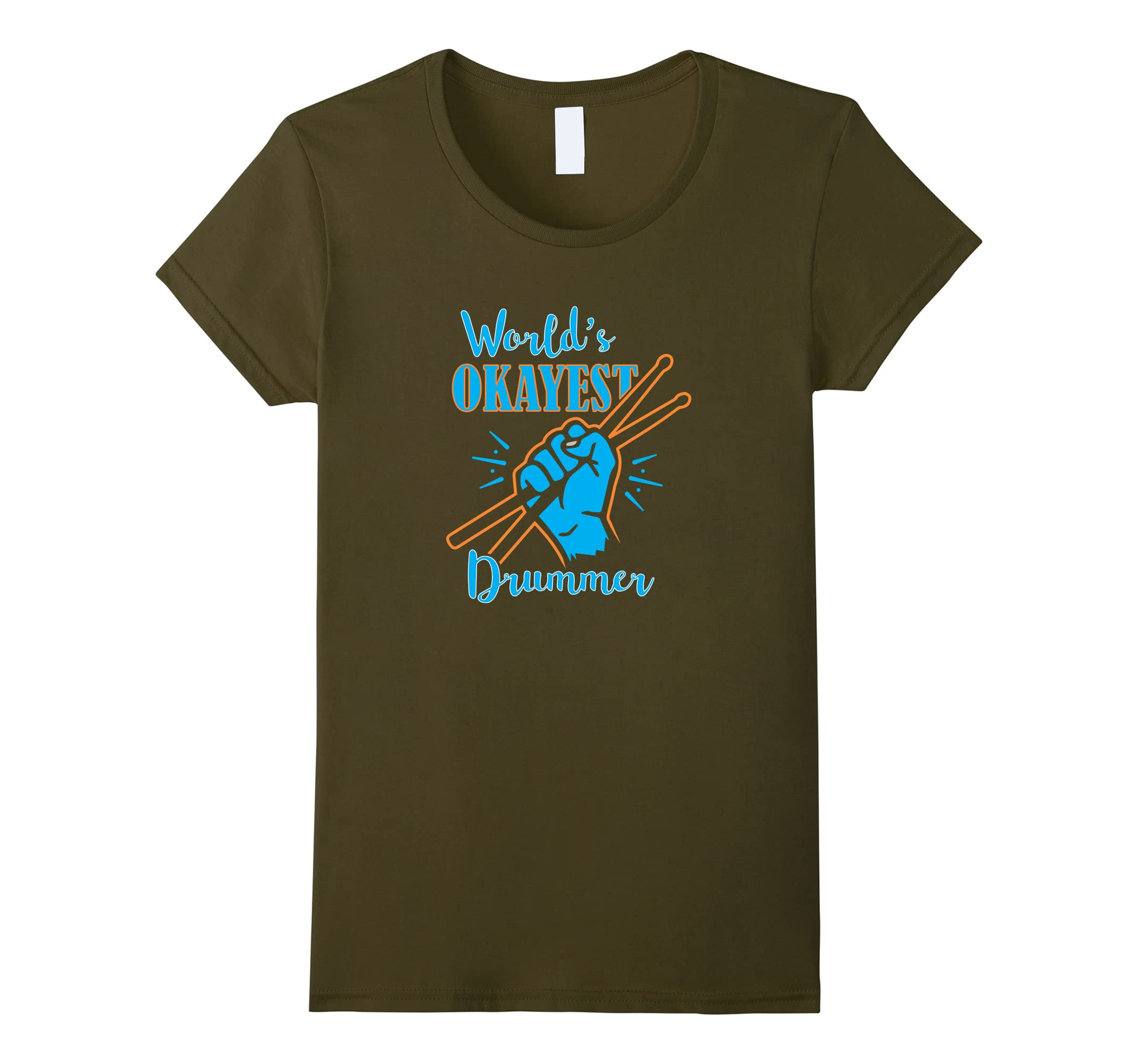 Worlds Okayest Drummer Musicial T Shirt-Tovacu