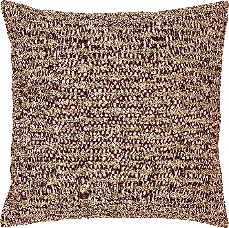 Stone & Beam Mid-Century Modern Geometric Throw Pillow, 20  x 20 , Brick Red