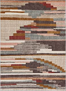 Well Woven Wylie Stripes Multi Red Vintage Area Rug 8x11 (7'10