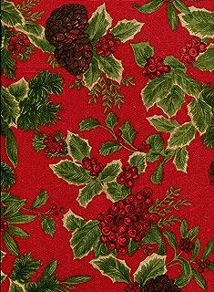 Ralph Lauren Birchmont Red Tablecloth, Red Background, 60-by-120 Inch Rectangular