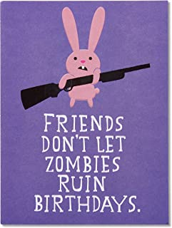 American Greetings Funny Birthday Card (Zombie and Bunny)
