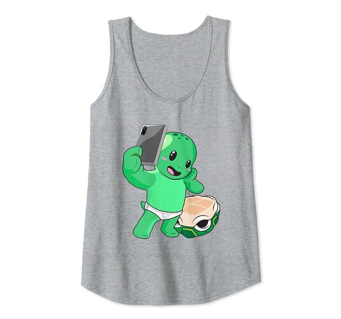 Amazon.com: Funny Posing Selfie Turtle - Camiseta de ...