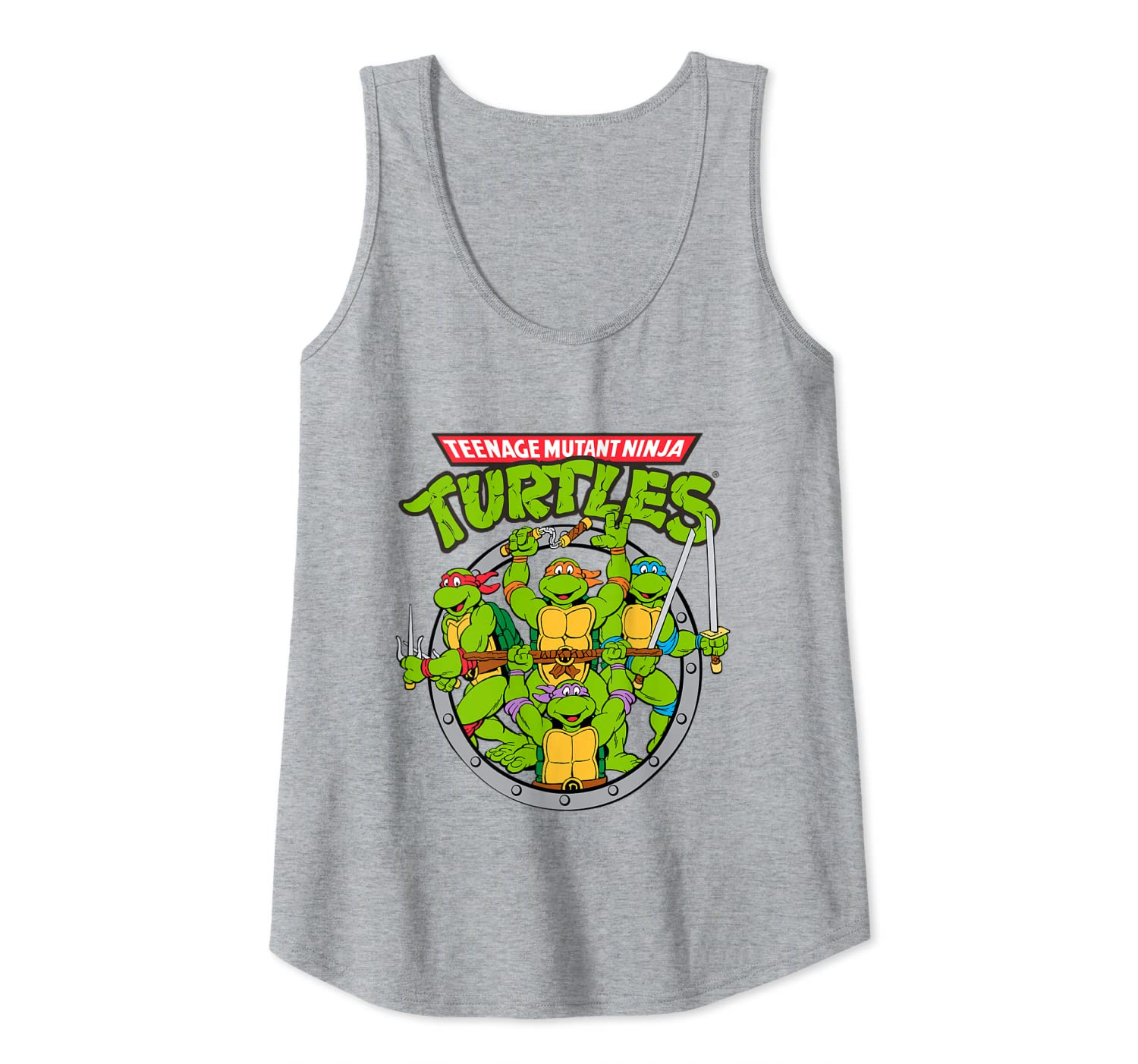 Amazon.com: Tmnt Logo With Characters In Sewer Shape Tank ...