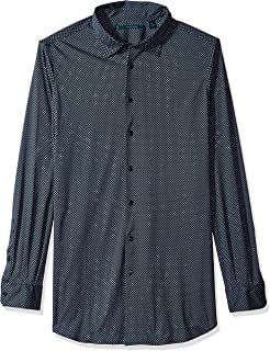 قميص بيري إيليس للرجال بطباعة ماسية على نسيج محبوك
