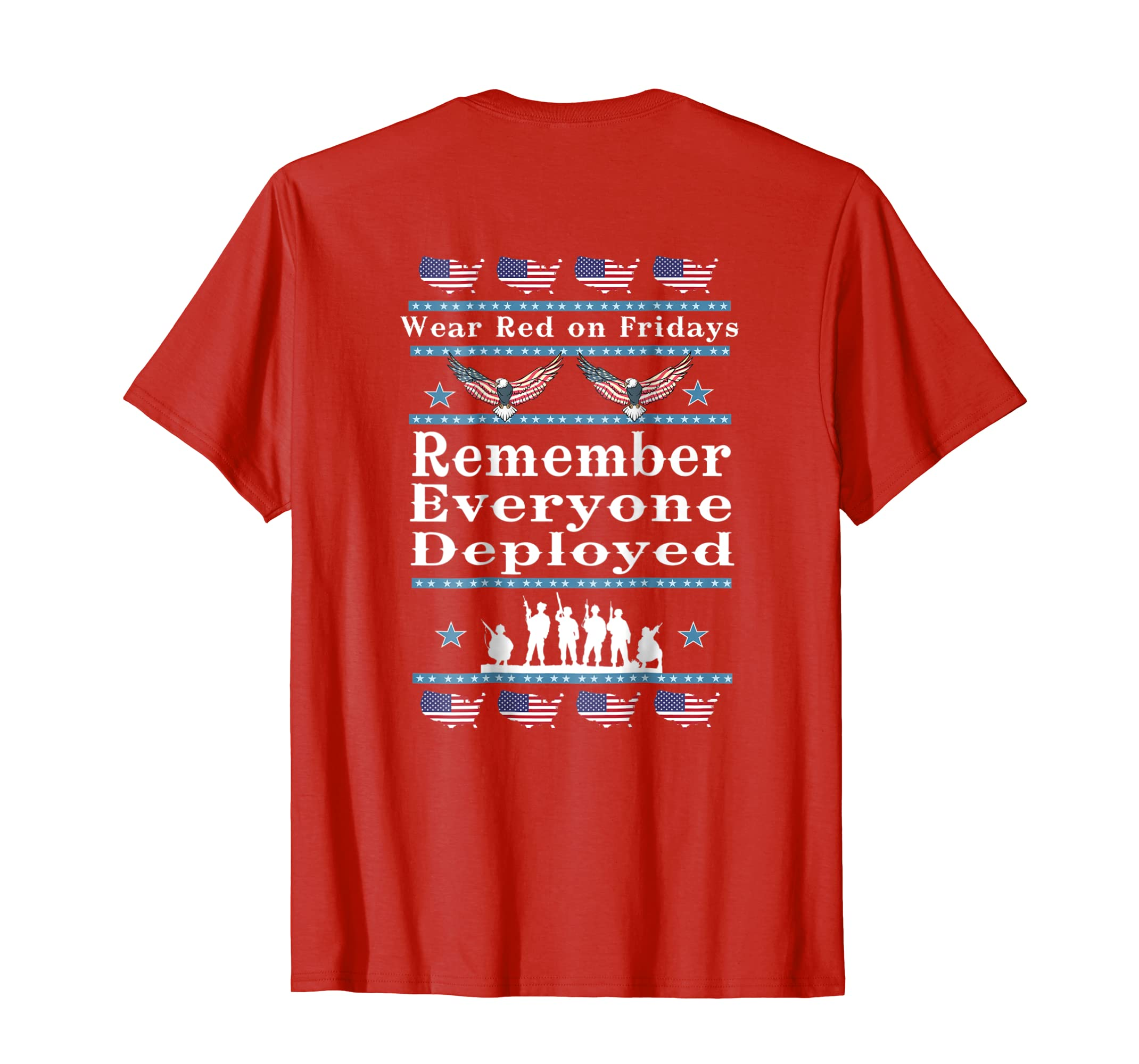 Wear Red on Fridays Support Our Troops shirts-SFL