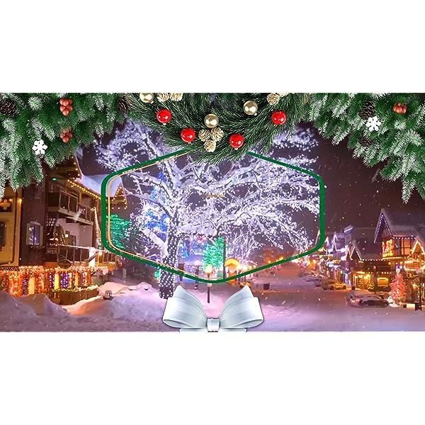 Luci Natale Esterno, GlobaLink Catena Luminosa 25M 1000 LEDs Stringa Luci Led Impermeabili, 8 Modalità Luce, Funzione Memoria per Uso Interno Esterno Natale Matrimonio Casa Giardino Feste-Bianca Calda 7 spesavip