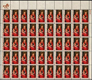 Christmas Sheet of 50 x 5 Cent US Postage Stamps Scott 1336