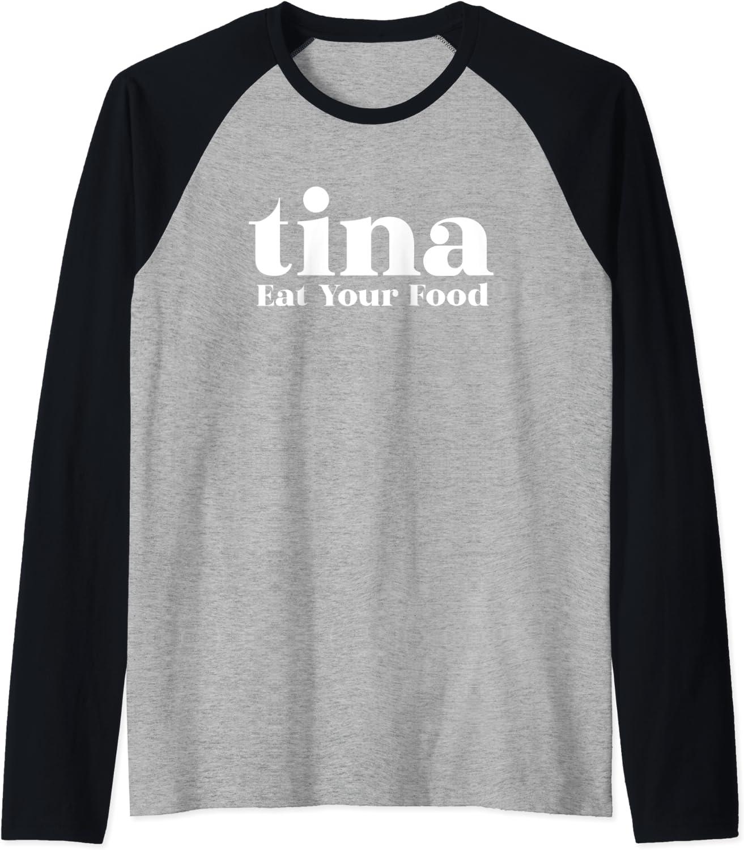 Eat Your Food Tina Llama Alpaca Raglan Baseball Tee