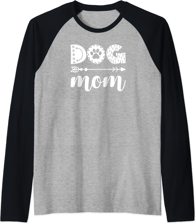 Dog Mom- Cute Dog Mom Fur baby Gifts and Home Decor Gifts Raglan Baseball Tee