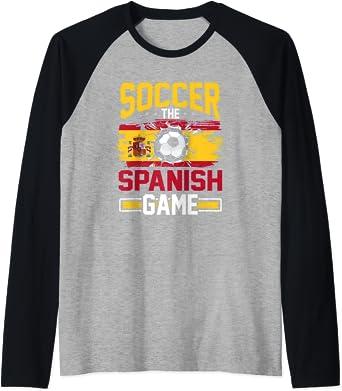 Fußball Tee für Männer The Spanish Game Spain Raglan