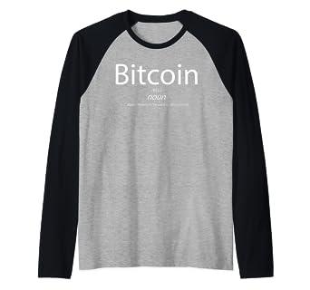 df0ad58570dd Amazon.com: Bitcoin Definition - BTC Is Magic Money For Millenials Raglan  Baseball Tee: Clothing