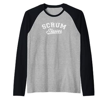 c00f248256e05 Amazon.com: Funny Scrum Master Shirt Fathers Day Gift Shirt Raglan ...