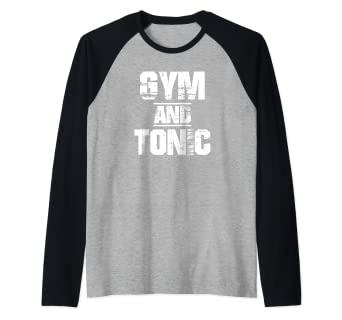 5cbadbc39 Image Unavailable. Image not available for. Color: Gym And Tonic T-Shirt  Athletic Graphic Drinking Workout ...