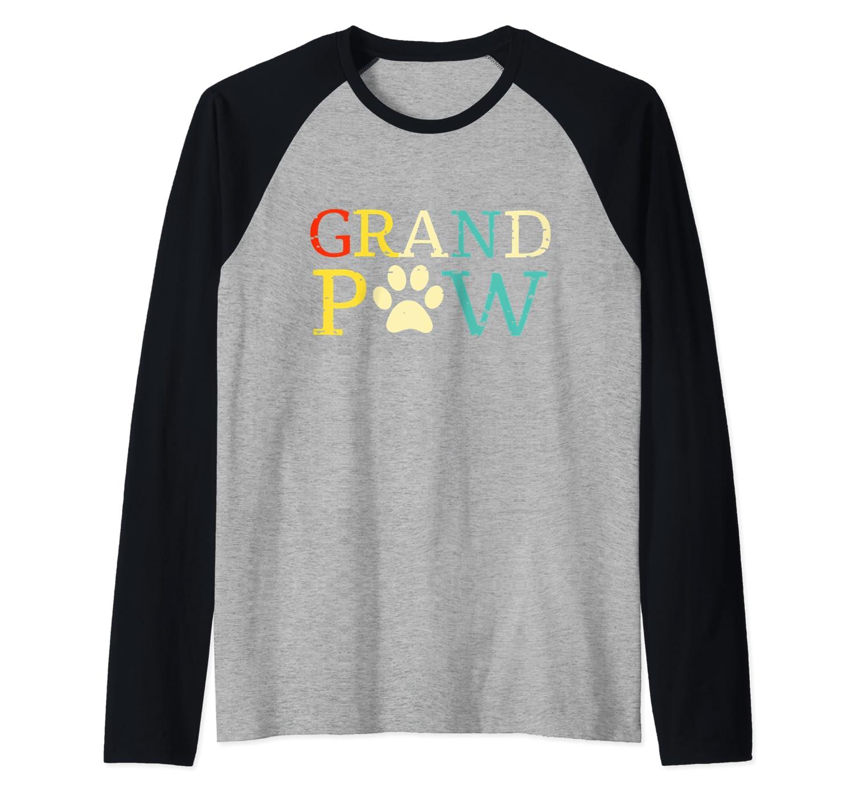 Vintage Grandpaw Grand Paw Gift Grandpa Father's Day Baseball Shirts