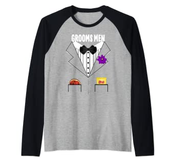 ad646fa4 Image Unavailable. Image not available for. Color: Groomsmen Tuxedo Wedding Bachelor  Party Group Funny Gift Raglan Baseball Tee