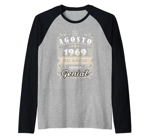 Amazon.com: Camiseta Agosto 1969 50 Anos Siendo Genial ...