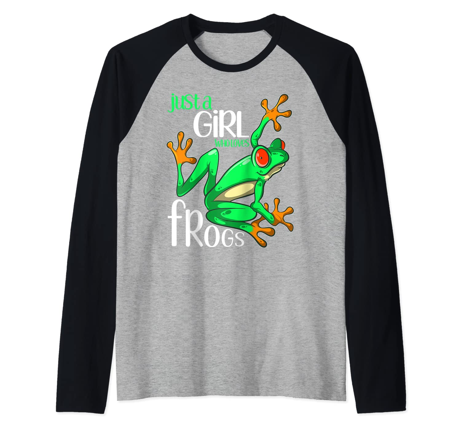Just A Girl Who Loves Frogs Gif For And Girls Baseball Shirts